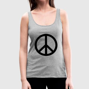 peace sign - Women's Premium Tank Top