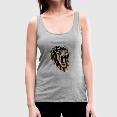 Lion lion head gift - Women's Premium Tank Top