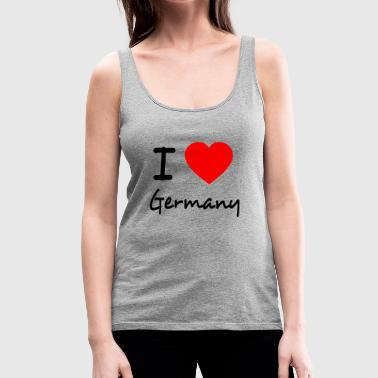 I LOVE GERMANY - Tank top damski Premium