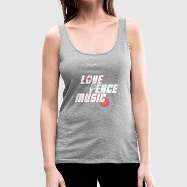 Love Peace Music Gift Love Peace Music - Canotta premium da donna