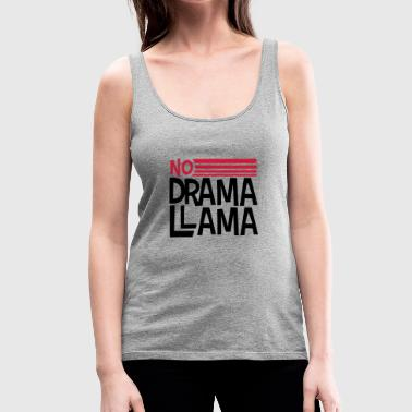text logo no drama llama party cool celebrate fun c - Women's Premium Tank Top