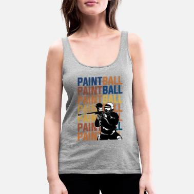 Paintball PAINTBALL PAINTBALL PAINTBALL - Women's Premium Tank Top