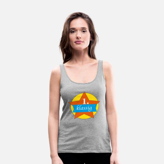 First Day Of School Tank Tops - first-class - Women's Premium Tank Top heather grey