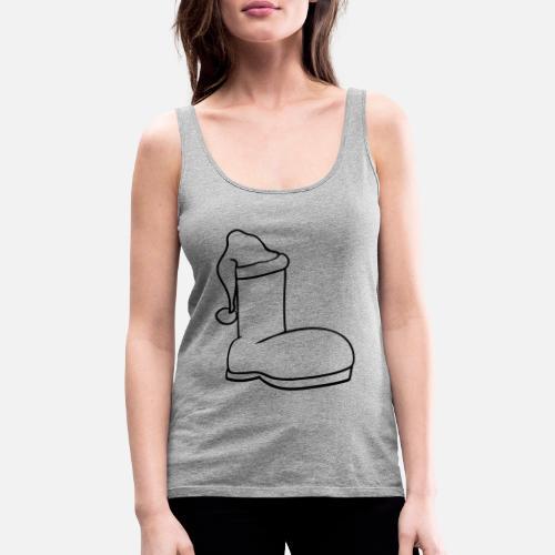 f9e9b4db2e3ed9 schuh muetze stiefel anziehen klamotten schuhe wei - Frauen Premium  Tanktop. Hinten. Hinten. Design. Vorne