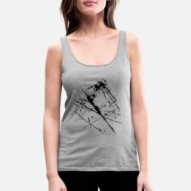 Abstract Scratches cracks Scratched - Women's Premium Tank Top
