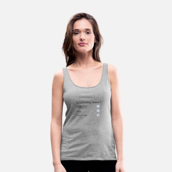 Santa Tank Tops - Waiting for Santa - Women's Premium Tank Top heather grey