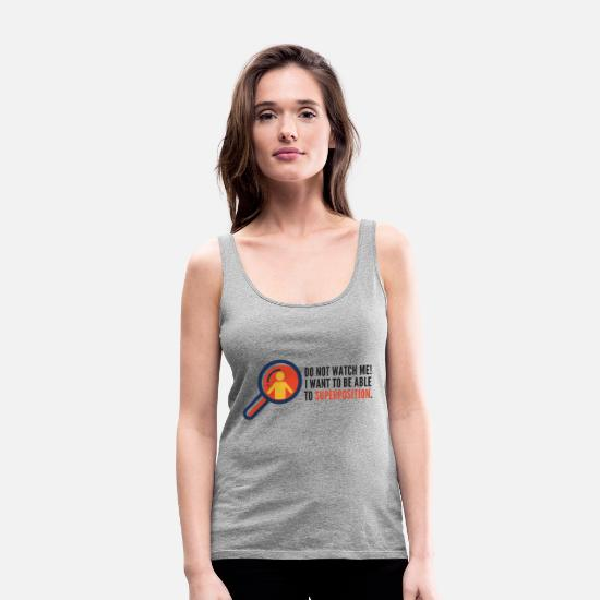 Geek Tank Tops - Superposition - Women's Premium Tank Top heather grey