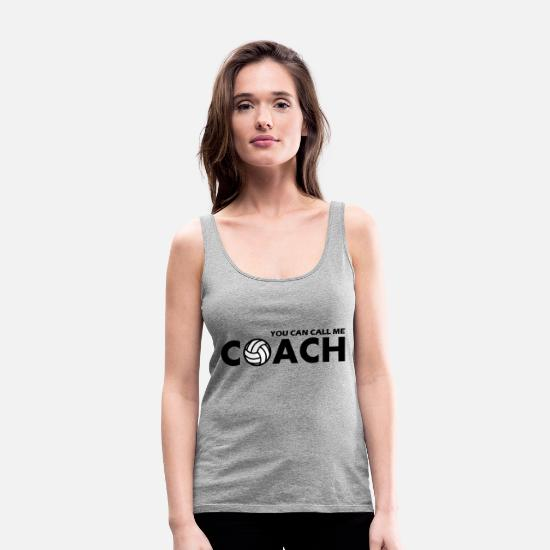 Volley Tanktops - you can call me volleyball coach - Premium tanktop dame grå meleret