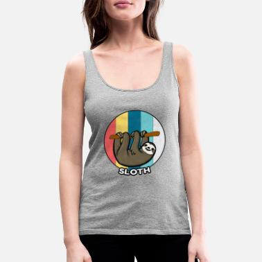 Relaxe Sloth Vintage Lazy Chilling Sleeping Gift - Women's Premium Tank Top