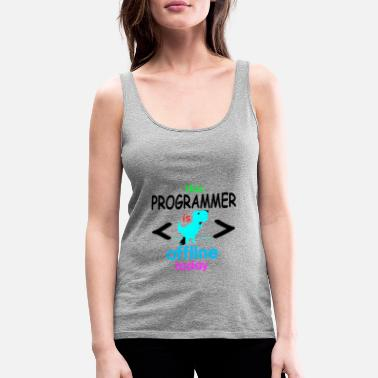 Coder Programmer coder software developer computer - Women's Premium Tank Top