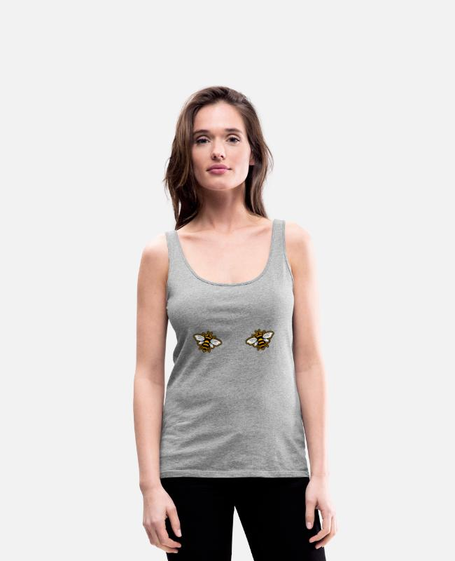 Honey Tank Tops - Bee BH - Women's Premium Tank Top heather grey