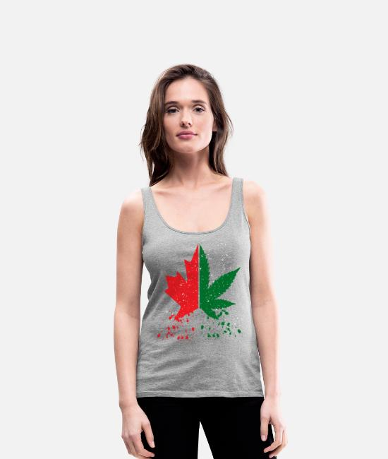Half Tank Tops - Canada. Cannabis Legalization. Canada great. Weed - Women's Premium Tank Top heather grey