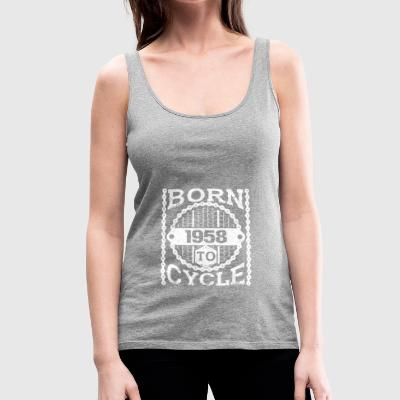 born cycle mountainbike gift birthday 1958 - Frauen Premium Tank Top