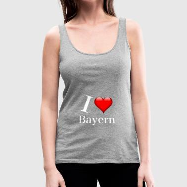 I LOVE Bayern white - Frauen Premium Tank Top