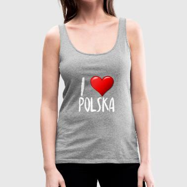 I Love Polska - Women's Premium Tank Top