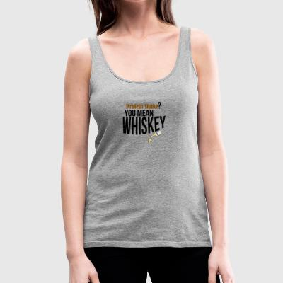 Whiskey protein shake - Frauen Premium Tank Top