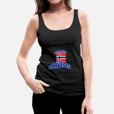 Golf Golfing Golfing Golf Norway - Women's Premium Tank Top