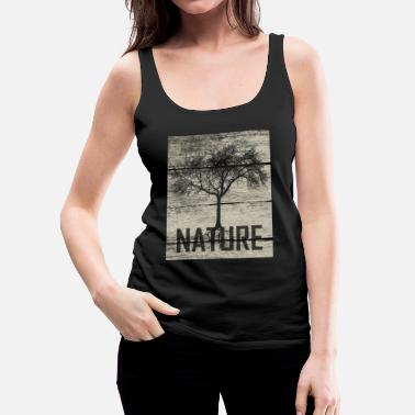 Nature Tree Wood - Camiseta de tirantes premium mujer