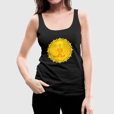 Yoga Lotus Meditation Chakren III - Frauen Premium Tank Top