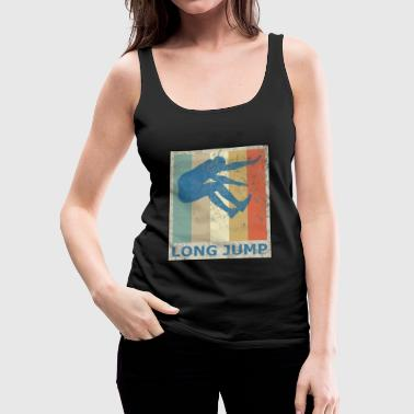 Retro Vintage Style Long Jump Wide Jump - Women's Premium Tank Top