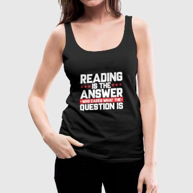 READ READING BOOKSHOP: READING IS THE ANSWER - Women's Premium Tank Top