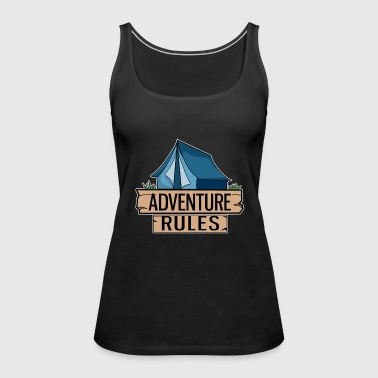 Tent Blue Adventure Camping Outdoor Gift Idea - Women's Premium Tank Top