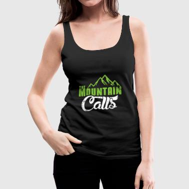 The mountain gets a Christmas gift hiking - Women's Premium Tank Top