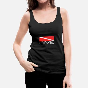 Scuba Dive | Dive design with dive flag for divers - Women's Premium Tank Top