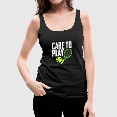 Gym Care to play - Women's Premium Tank Top