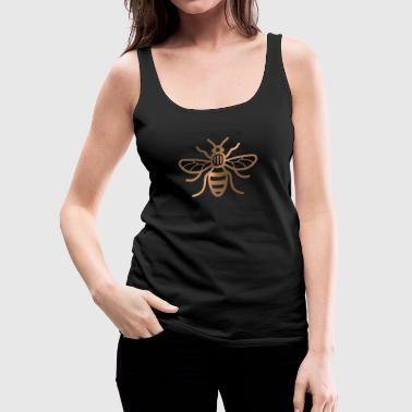 Manchester Bee - Brushed Metal Effect Print - Women's Premium Tank Top