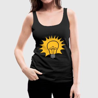 sun rays bulb light electricity idea smart - Women's Premium Tank Top