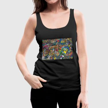 Graffiti - Frauen Premium Tank Top