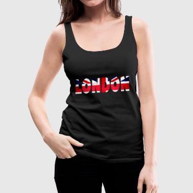 London - Union Jack - Women's Premium Tank Top