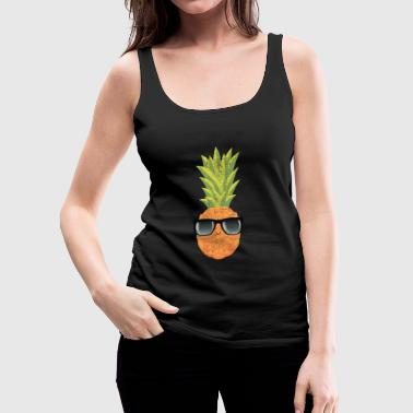 Pineapple With Sunglasses | Cool Illustration - Tank top damski Premium