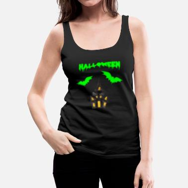 Bat Halloween slot bat - Dame Premium tanktop
