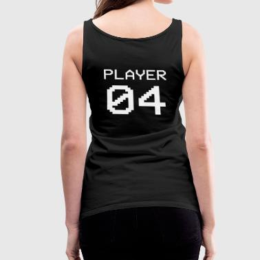 Player 04 Paar Nerd Geek - Frauen Premium Tank Top