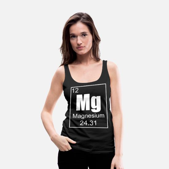 Birthday Tank Tops - Periodic Table Magnesium nice cool gift - Women's Premium Tank Top black