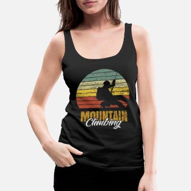 Alps Mountain climbing retro mountaineering gift - Women's Premium Tank Top