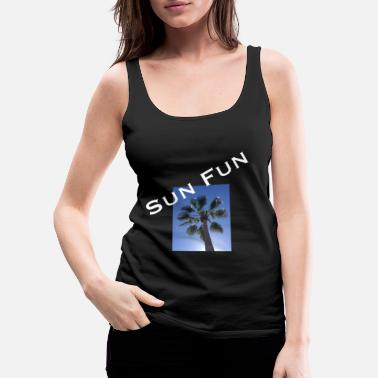 Infinite Sun palm fun gift holiday yoga vegan - Women's Premium Tank Top