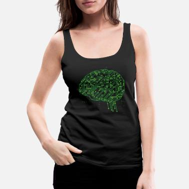 Iq AI Artificial Intelligence Neuroscience brain - Women's Premium Tank Top