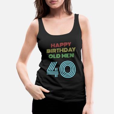 70s 40th birthday 40 years birthday present for the 40th - Women's Premium Tank Top