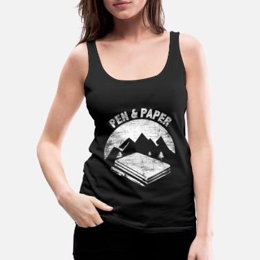 Paper Commuting and paper gift - Women's Premium Tank Top