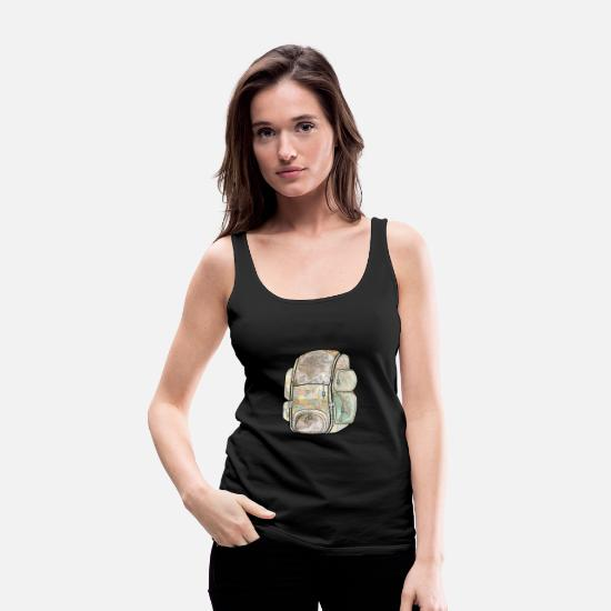 Hipster Tank Tops - Vintage Maps Travel Backpack - Women's Premium Tank Top black