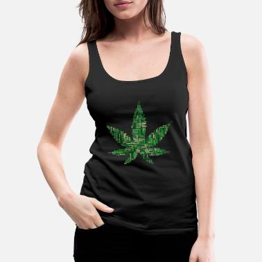Marijuana Collage - Frauen Premium Tanktop
