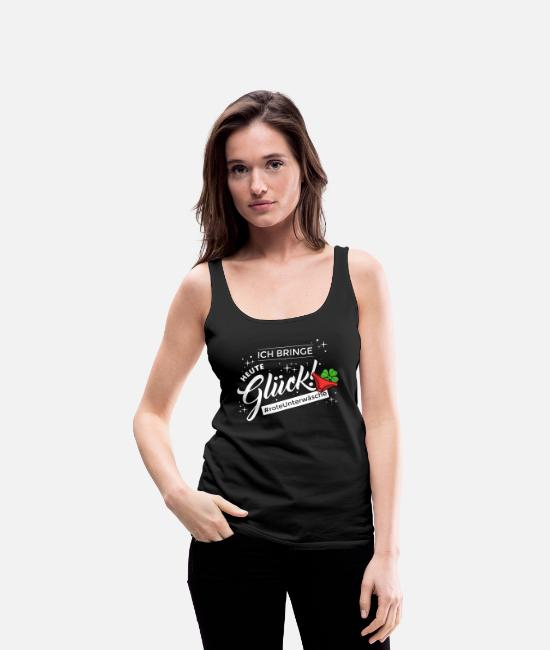 Lucky Guy Tank Tops - Funny saying lucky charm New Year's Eve New Year - Women's Premium Tank Top black