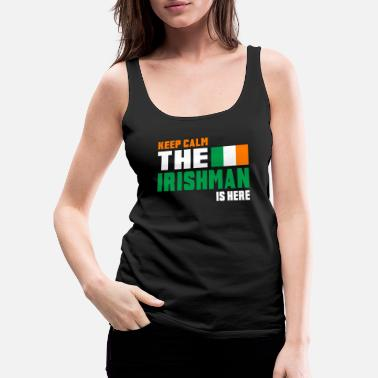 Nacional Keep Calm Ireland / Gift National Colors - Camiseta de tirantes premium mujer