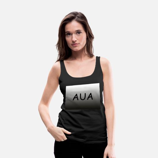 Horizontal Tank Tops - Lettering Aua horizontal with gradient - Women's Premium Tank Top black