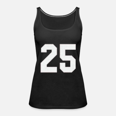 Jersey Number Baseball sports jersey number / Jersey Number 25 - Women's Premium Tank Top