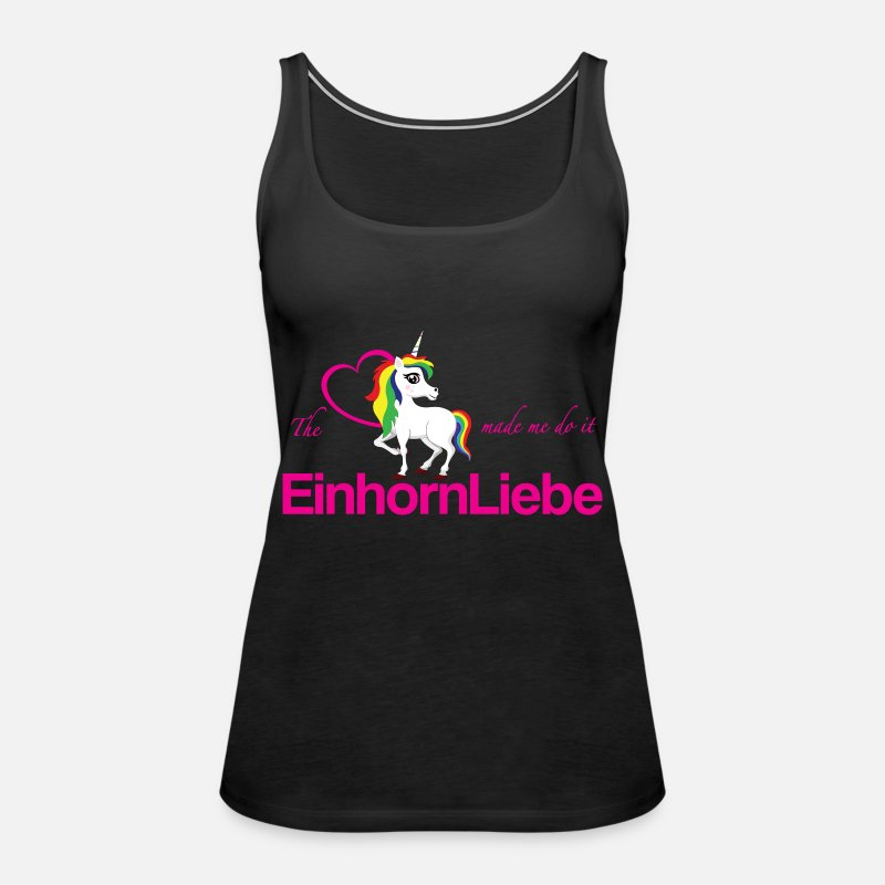 Love Tank Tops - The-unicorn-made-me-do-it - Women's Premium Tank Top black