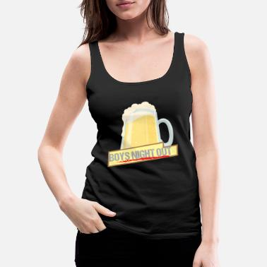Guys Night Out Men's Evening Boys Night Out Group Shirt Gift - Women's Premium Tank Top